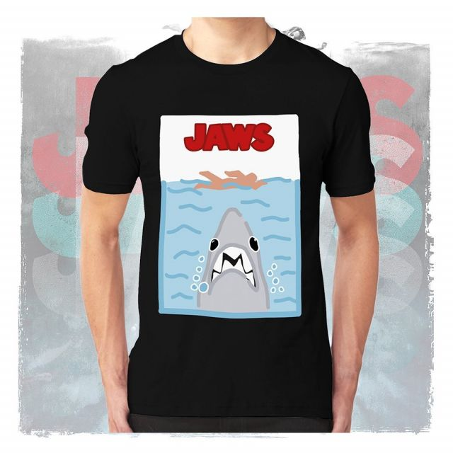 Throwing it back with a classic.. This Jaws shirt is currently in @hmvinstagram !! For any enquires contact our sales team 🦈 #jaws #hmv #tshirt #trademark