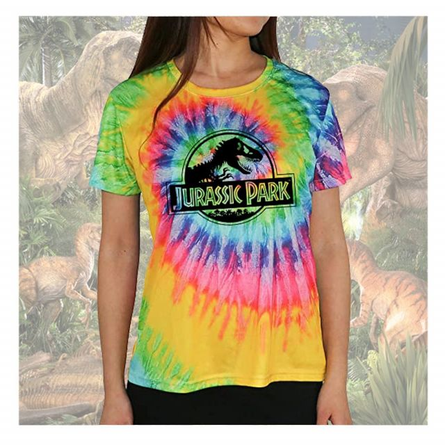 Tie-dye; yes or no? Two of our best sellers Jurassic Park and Rick and Morty tie-dye! For more info contact our sales team🌈
