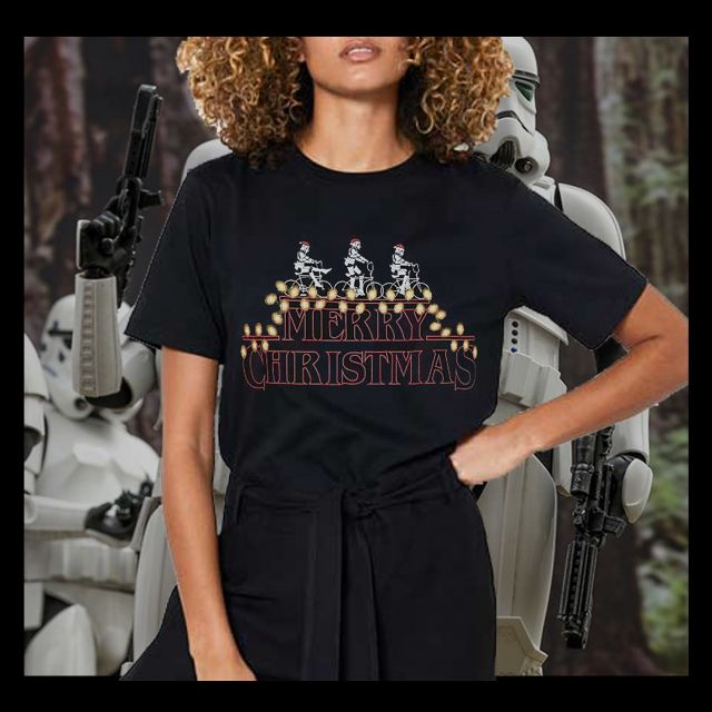 2 Week till Christmas! Who's excited? Here's a look at one of our Christmas stormtrooper designs to get you in the Christmas spirit! #stormtrooper #strangerthings #tshirt #merch