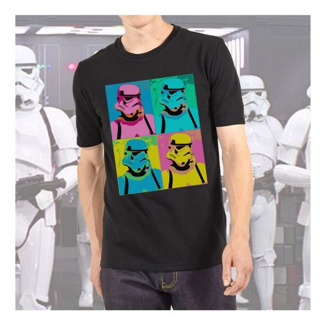 Here is our Stormtrooper Pop art design.. For designs like this contact our sales team for more information! #stormtrooper #stormtrooperart #popart #tshit #tshirtdesign